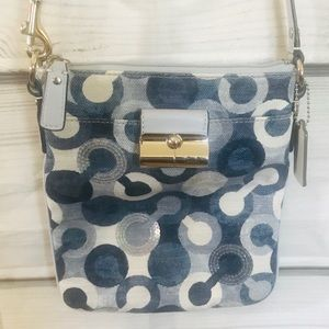 Coach Kristin Op Art Swingpack Crossbody